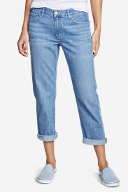 Light Wash Jeans for Women: Boyfriend Cropped Jeans