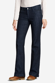 Women's Curvy Denim Trousers - Indigo