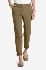Brown Petite Pants for Women: Women's Legend Wash Boyfriend Stretch Pants