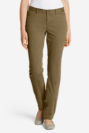 Brown Petite Pants for Women: Women's Legend Wash Curvy Stretch Pants