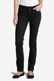 Curvy Jeans for Women: Women's StayShape® Straight Leg Black Jeans - Slightly Curvy