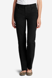 Straight Leg Pants for Women: Curvy StayShape Stretch Twill Pants