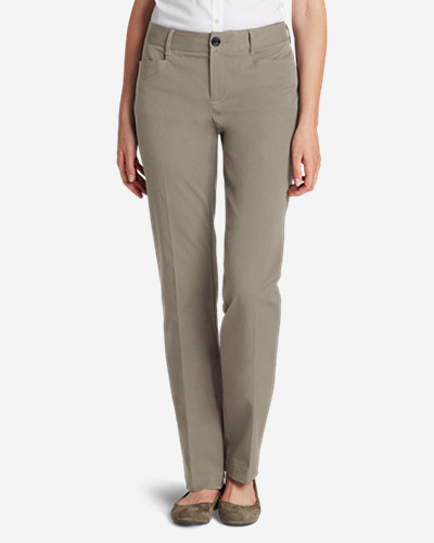 Mid-Rise Pants for Women: Curvy StayShape® Stretch Twill Pants