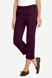 Curvy Petite Pants for Women: Women's Legend Wash Curvy Stretch Pants - Cropped