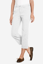Women's Curvy Stretch Legend Wash Pants - Cropped