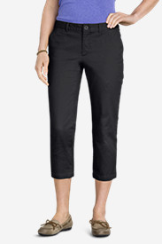 Gray Dress Pants for Women: Women's Slightly Curvy Legend Wash Stretch Twill Cropped Pants
