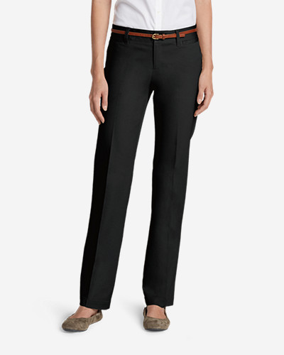 Women's Slightly Curvy StayShape Stretch Twill Pants - Straight Leg