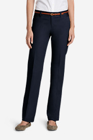 Straight Leg Plus Size Pants for Women: Women's StayShape® Straight Twill Pants - Slightly Curvy