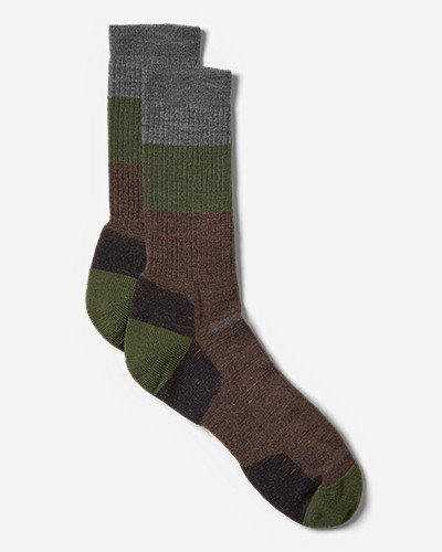 Hiking Socks for Men: Point6® Light Hiker Crew Socks - Block Stripe