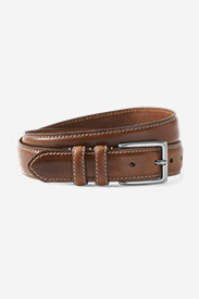 Accessories for Men: Men's Feather Edge Leather Belt