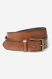 Men's Khaki Leather Belt