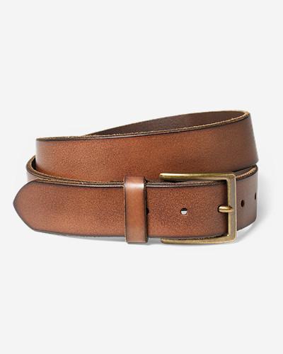 Men's Khaki Leather Belt