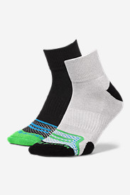 Blue Socks for Men: Men's Active Pro COOLMAX Quarter Socks - 2 Pack