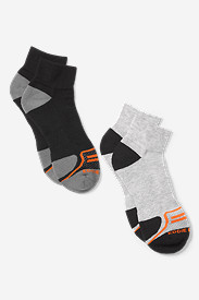 Spandex Accessories for Men: Men's Active Pro COOLMAX® Quarter Socks - 2 Pack