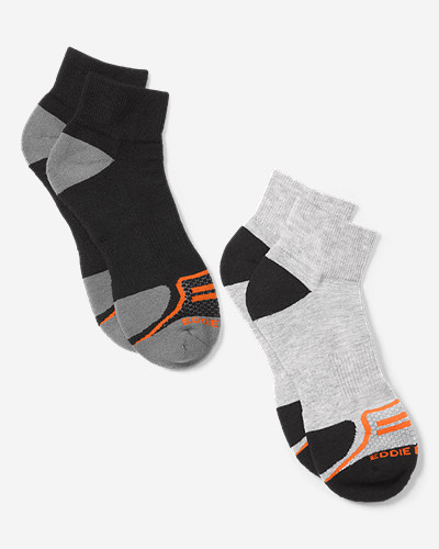 Hiking Socks for Men: Men's Active Pro COOLMAX® Quarter Socks - 2 Pack