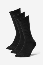 Accessories for Men: Men's Solid Crew Socks - 3 Pack