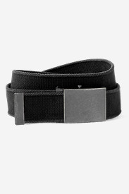 Accessories for Men: Men's Web Plaque Belt