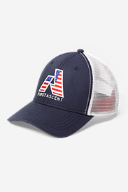 Mens Americana: Graphic Cap - First Ascent Flag