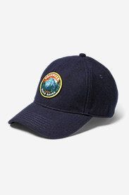 Blue Hats for Women: Wool-Blend Graphic Cap
