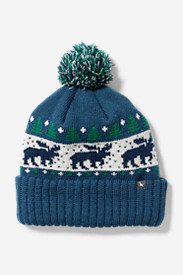 Blue Hats for Women: SlopesIde Pom Beanie