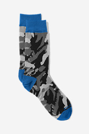 Spandex Accessories for Men: Men's Crew Socks - Camo
