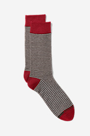 Red Accessories for Men: Men's Crew Socks - Stripe