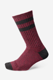 Nylon Socks for Men: Men's Crew Socks - Marled Stripe