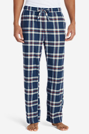 Blue Pajamas for Men: Men's Flannel Pajama Pants