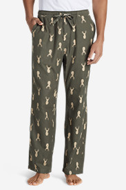 Green Pajamas for Men: Men's Flannel Pajama Pants