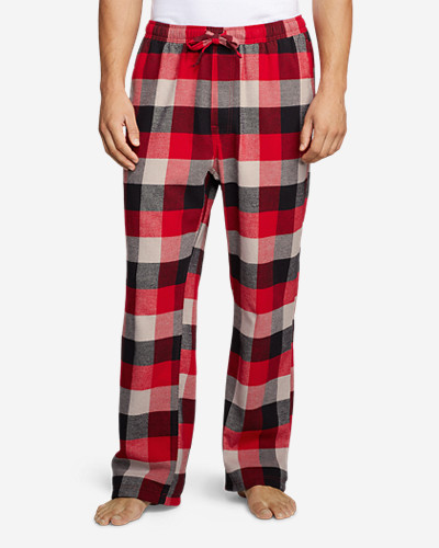 Red Pants for Men: Men's Flannel Pajama Pants