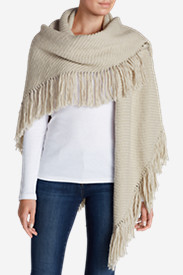 Beige Sweaters for Women: Women's Tahoma Triangle Sweater Shawl