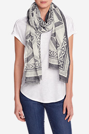 Women's Oversized Woven Rectangluar Wrap - Printed