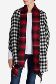 Women's Stine Plaid Double-Cloth Woven Wrap
