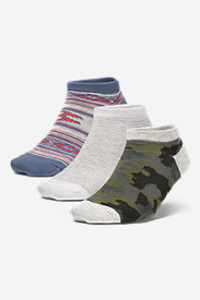 Women's Low-Profile Patterned Socks - 3-Pack