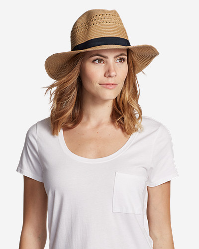 Women's Panama Packable Straw Hat by Eddie Bauer