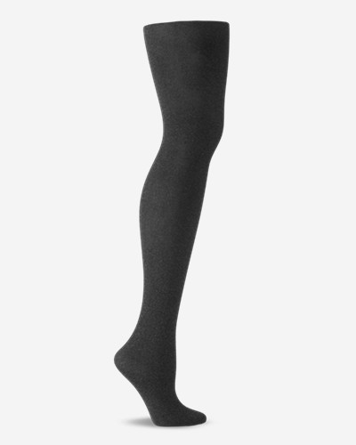 Gray Accessories for Women: Women's Control Top Heathered Tights