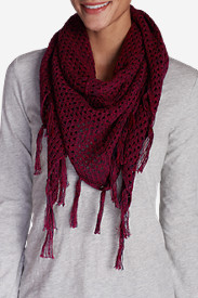 Women's Open Stitch Triangle Scarf