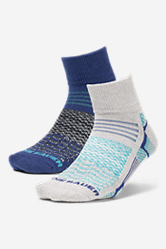 Women's Active Pro COOLMAX® Quarter Crew Socks - 2 Pack