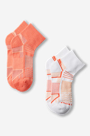 Rubber Socks for Women: Women's Active Pro COOLMAX Quarter Crew Socks - 2 Pack