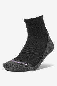Gray Accessories for Women: Women's COOLMAX Trail Quarter Crew Socks
