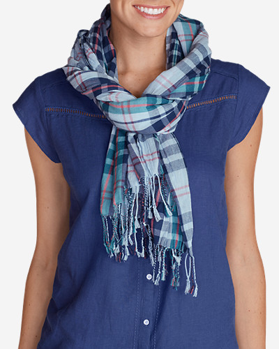 Accessories for Women: Women's Weekend Getaway Oblong Scarf - Plaid