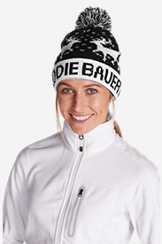 Blue Hats for Women: Women's Slope Side Pom Beanie