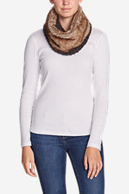 Gray Accessories for Women: Women's Textured Faux Fur Cowl