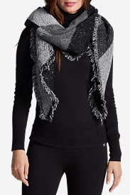 Polyester Accessories for Women: Women's Esla Marled Blanket Scarf