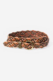 Leather Accessories for Women: Women's Braided Leather Belt