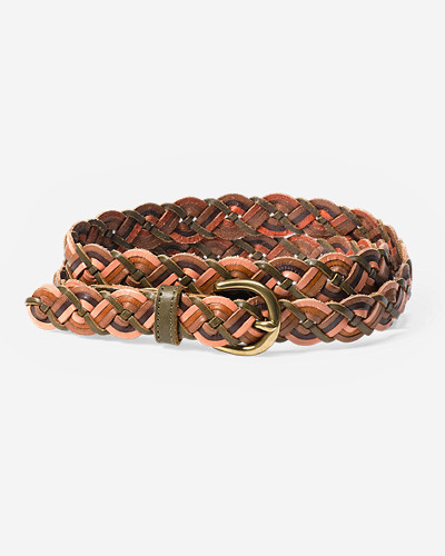 Accessories for Women: Women's Braided Leather Belt