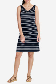 Women's Cowl Neck Dress - Stripe