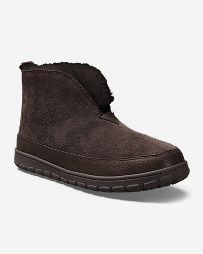 Shearling Boots for Men: Men's Eddie Bauer Shearling Boot Slippers