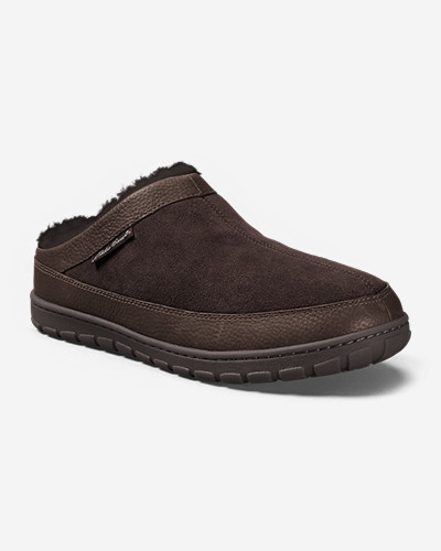 Brown Shoes for Men: Men's Eddie Bauer Shearling Scuff Slippers