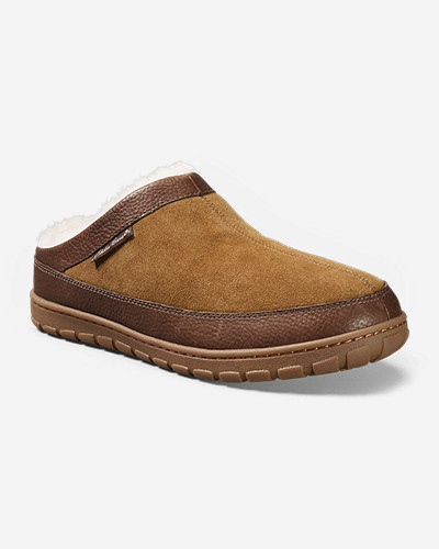 Beige Shoes for Men: Men's Eddie Bauer Shearling Scuff Slippers